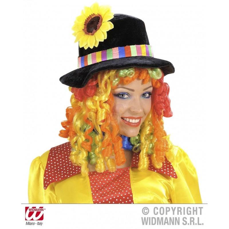 Sombrero Payaso Terciopelo con Peluca