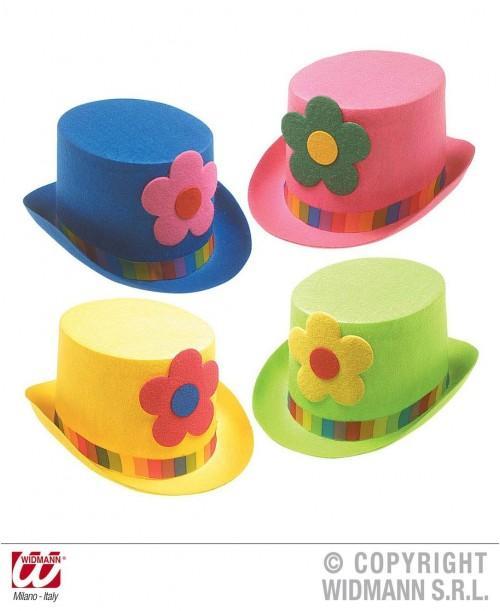 Sombrero copa con maxi flor