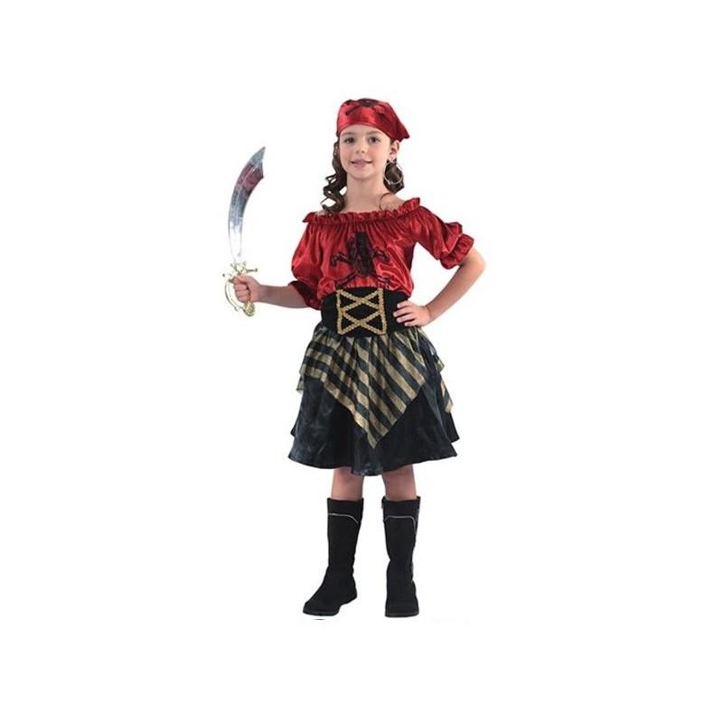 Disfraz de Pirata Niña Roja