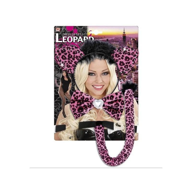 Set Disfraz Leoparda Rosa