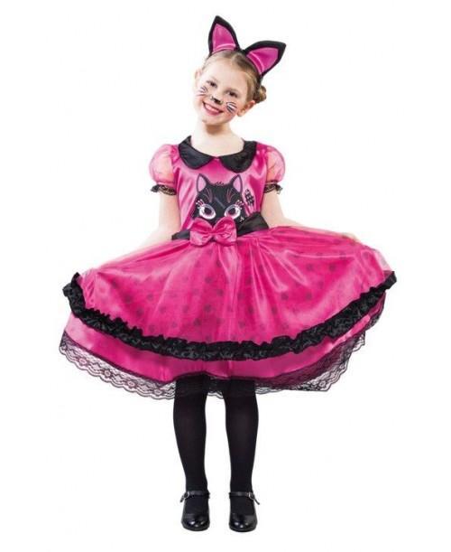 Disfraz de Gatita Rosa para Niñas