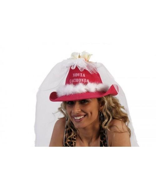 "Sombrero Novia Tul "" Novia Cachonda"""