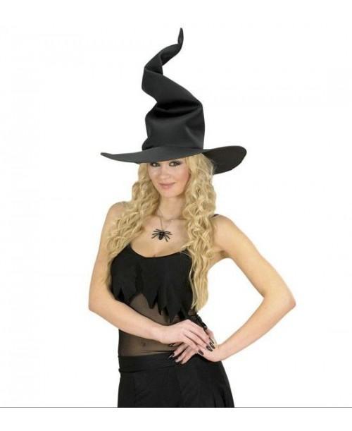 Sombrero bruja flexible Negro