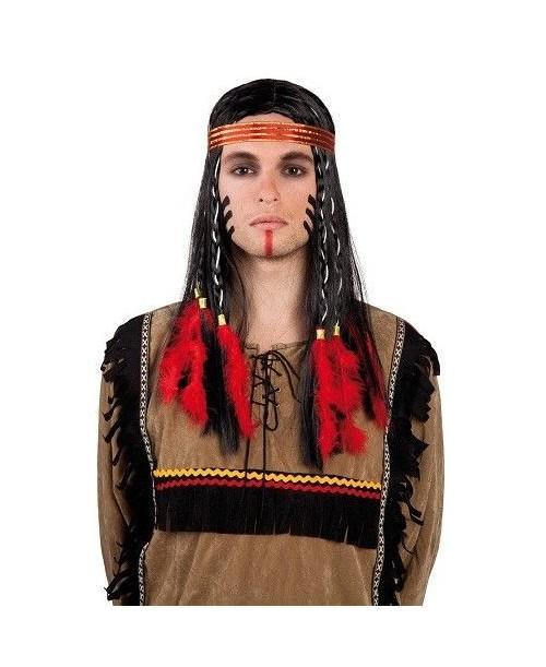 Peluca Indio Cheyenne con diadema