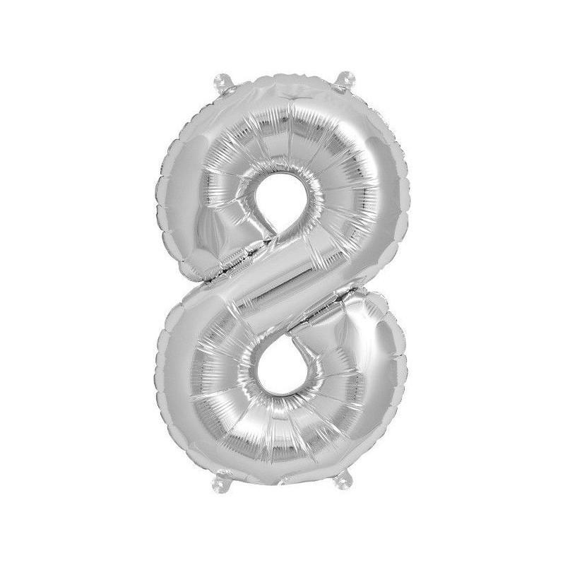 "Globo para fiesta Foil 34"" Nº 8"