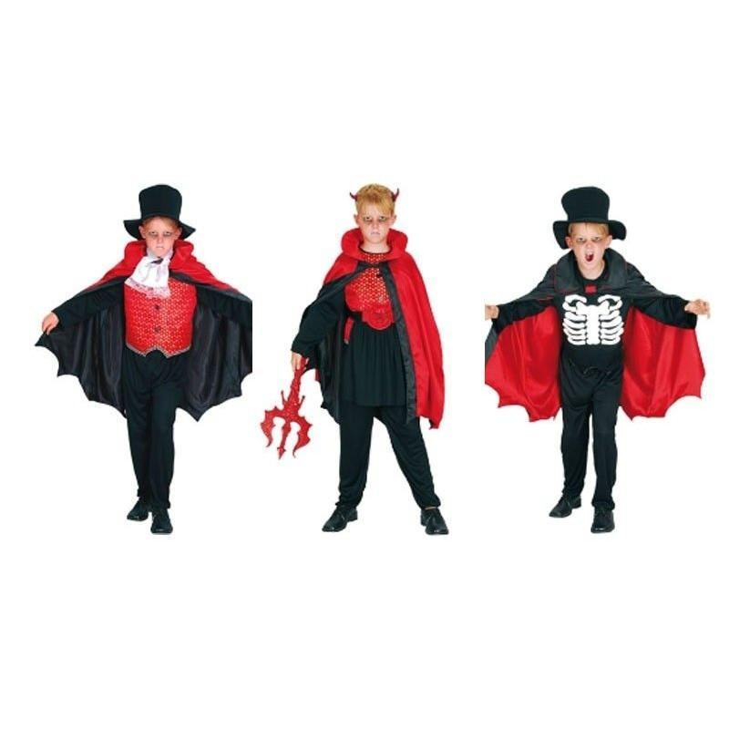 Disfraz de Esqueleto, Vampiro y Demonio