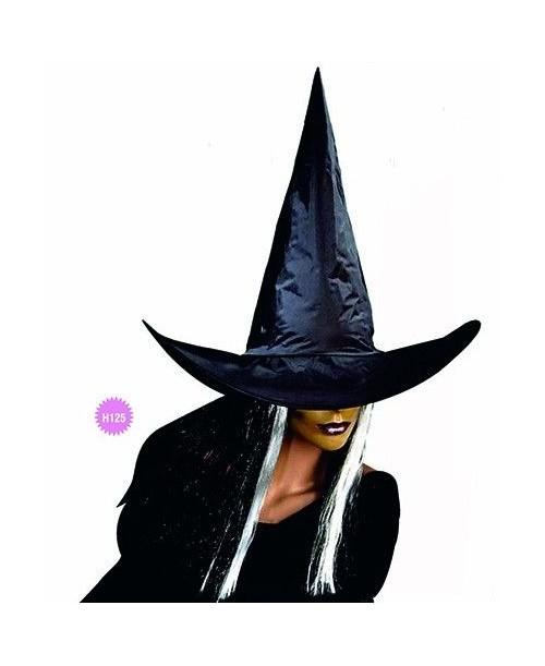 Sombrero Bruja Negro con Mechas