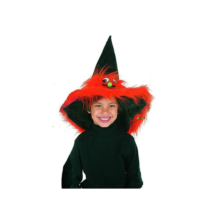 Sombrero Bruja Naranja con Cara