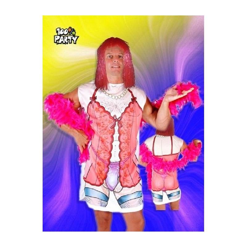 Disfraz Drag Queen C/Boa y Peluca