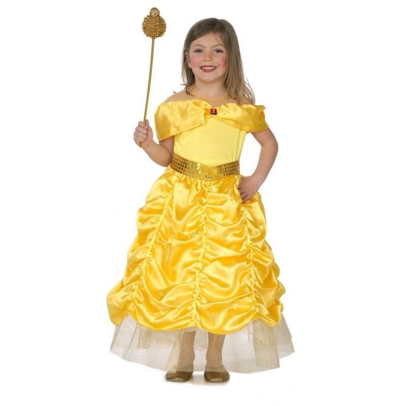 Disfraz de Princesa Dorada para niñas