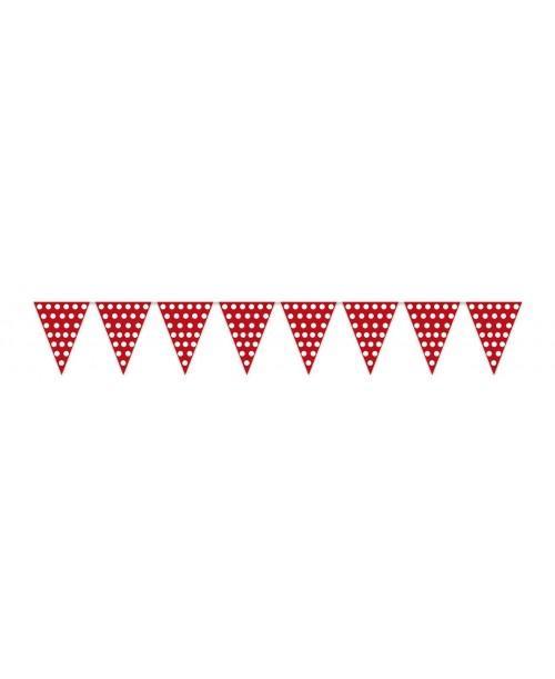 Banderas Rojas con Puntos Blancos