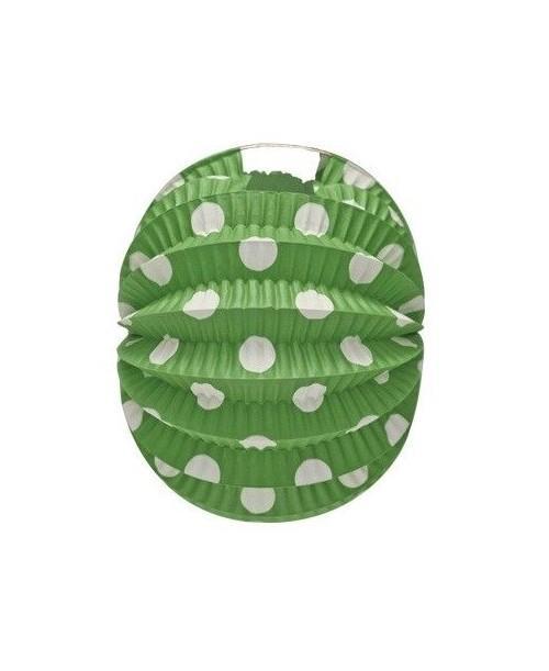 Farol Esférico Verde Lunares Blancos