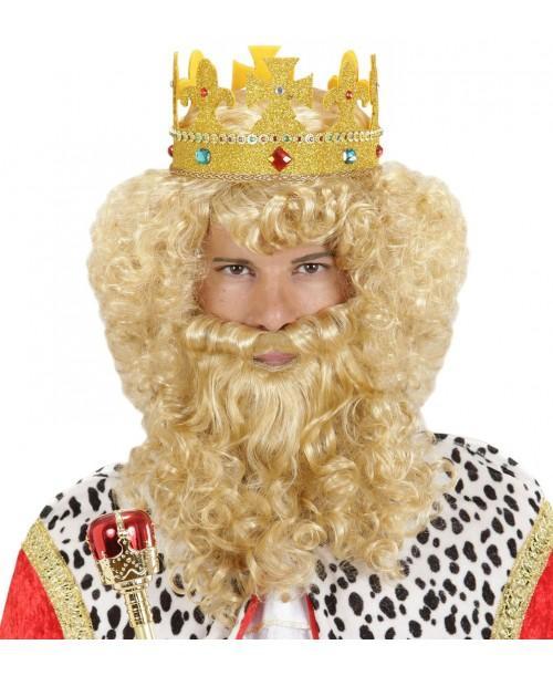 Peluca Rey con Barba y Bigote
