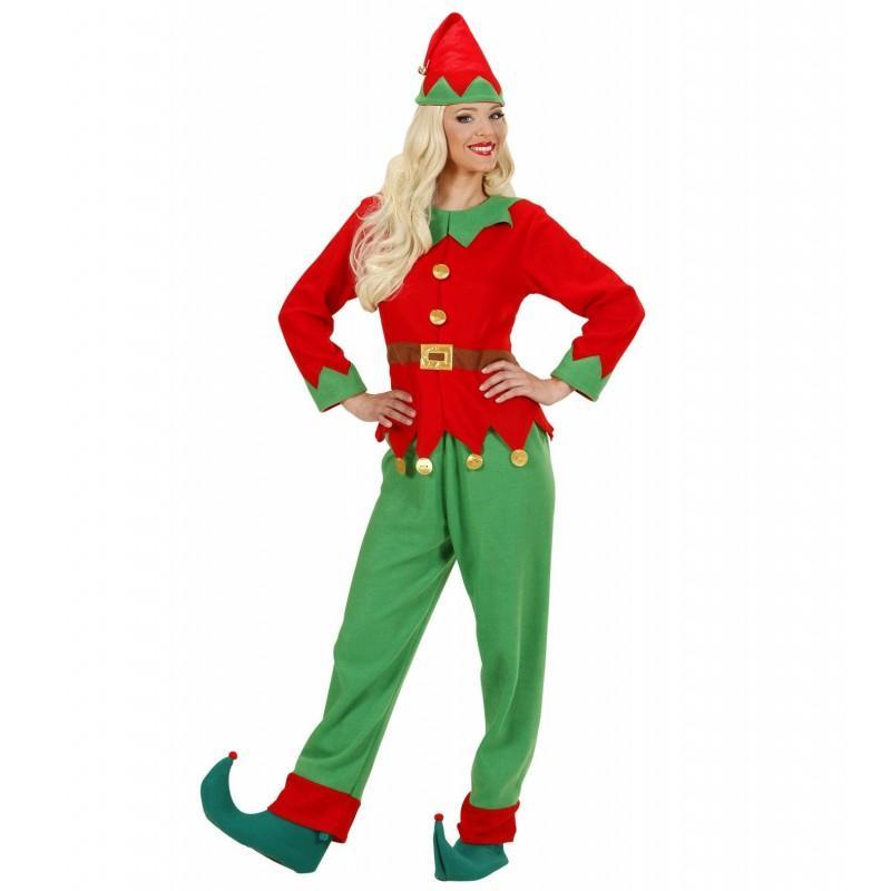 Disfraz de Elfo Mujer Ayudante de Papa Noel
