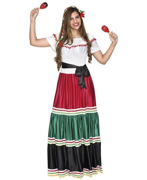 Disfraz de Mejicana para Adulto