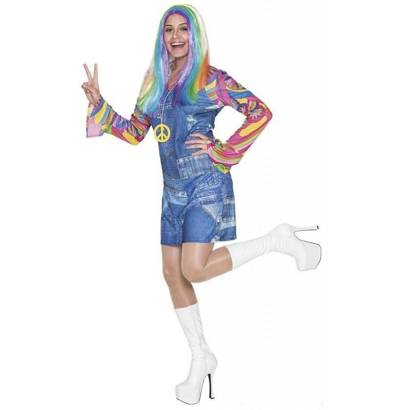 Disfraz de Hippie Vaquera Adulto