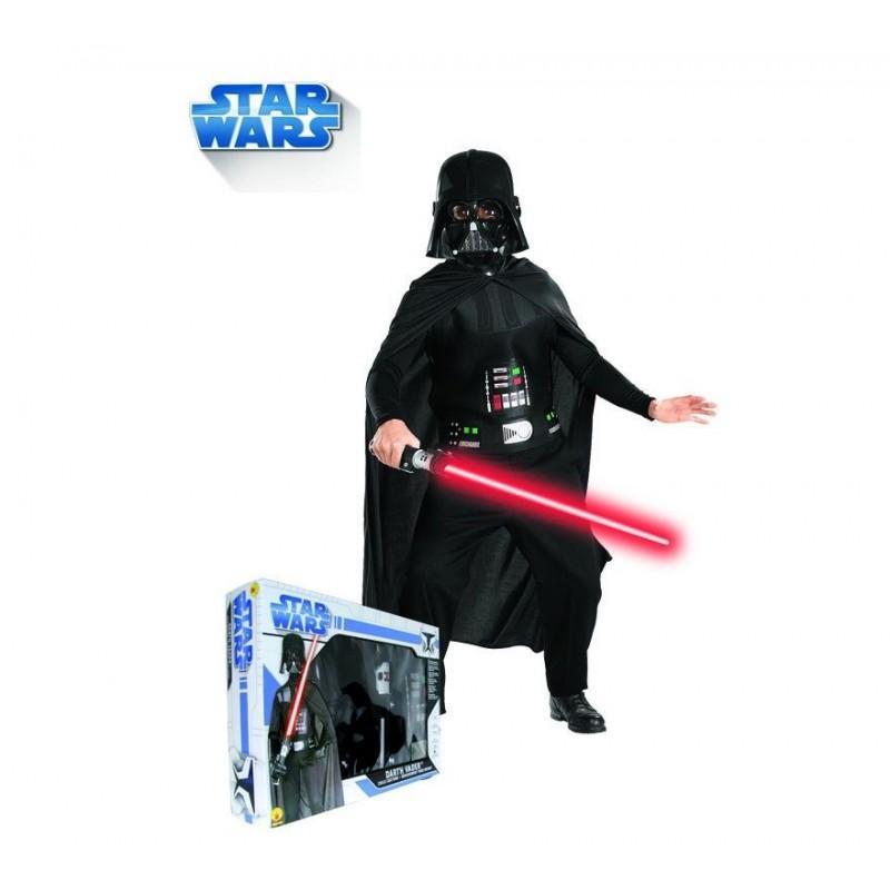 Disfraz de Darth Vader con Espada en Caja