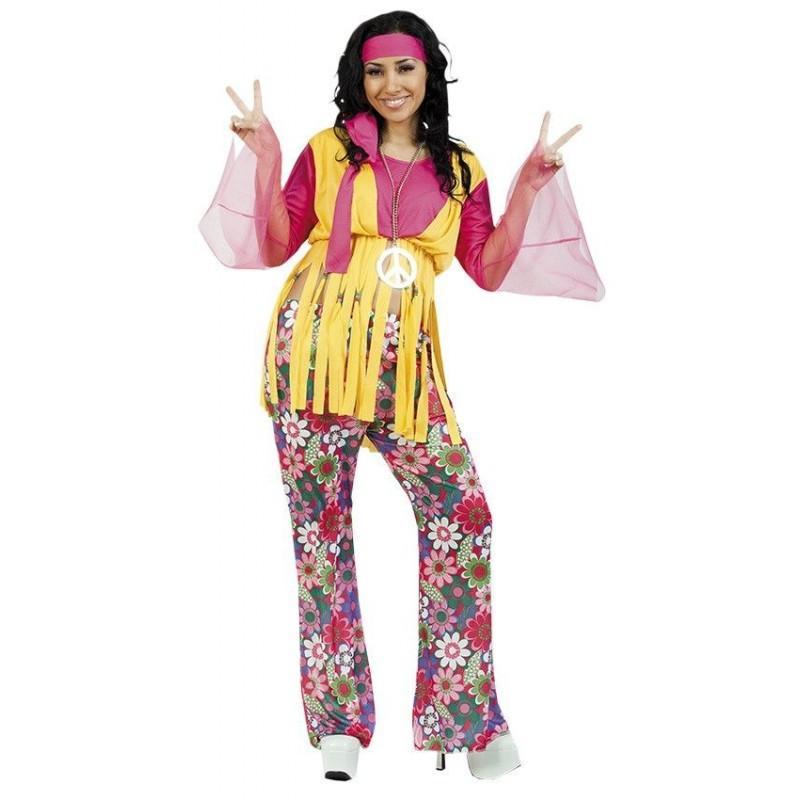 Disfraz de Hippie Chica Adulto