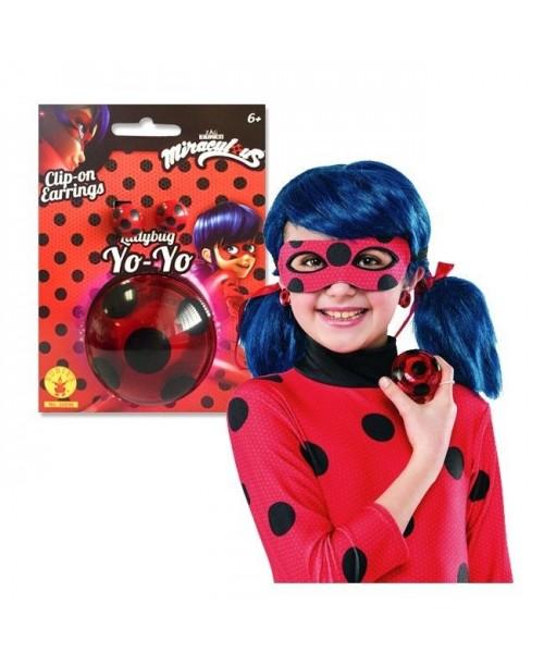 Set Yo-Yo & Pendientes Ladybug Infantil