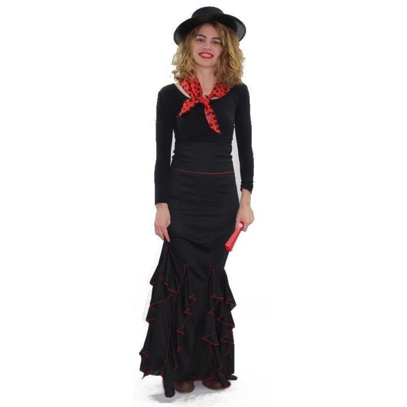 Falda de Flamenca Negra Adulto