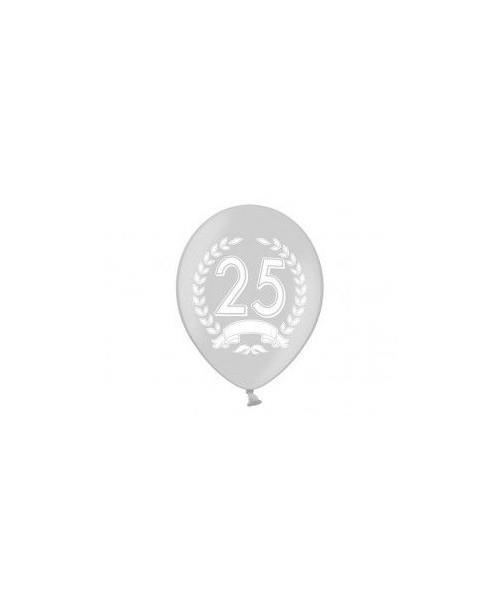 Globos 25 Aniversario Plata