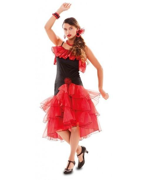 Disfraz de Flamenca Roja