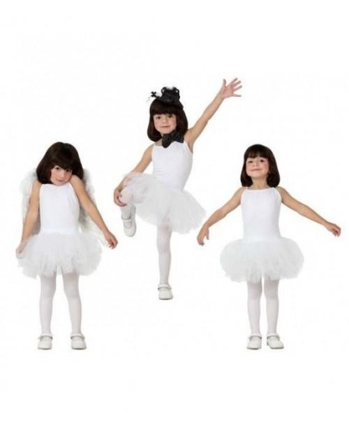 Disfraz de Bailarina Blanco Niña