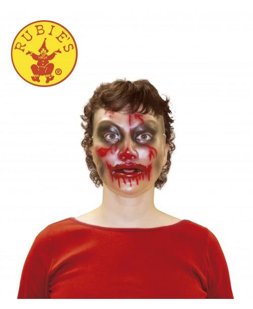 Máscara Transparente Mujer Zombie