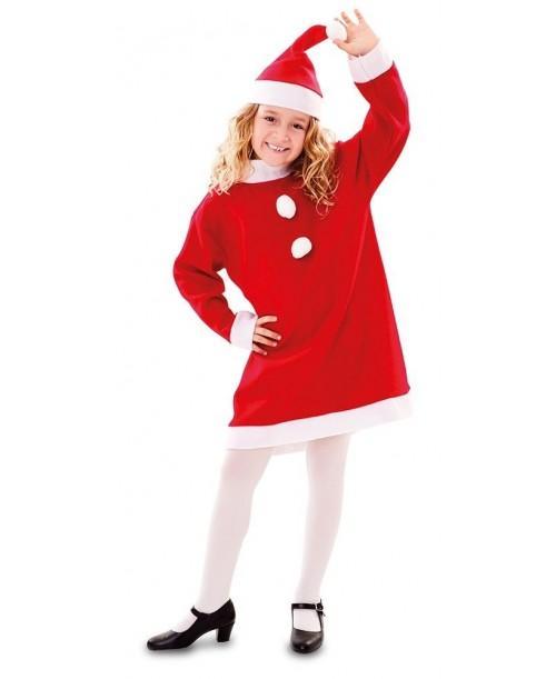 Disfraz de Mamá Noel Niña