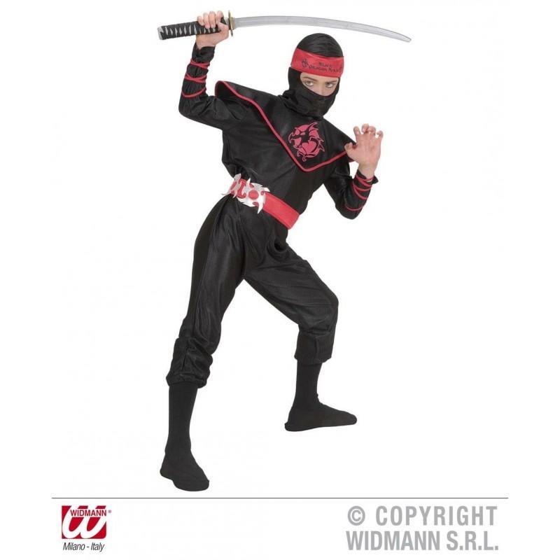 Disfraz de Ninja Negro adulto - dondisfrazcom