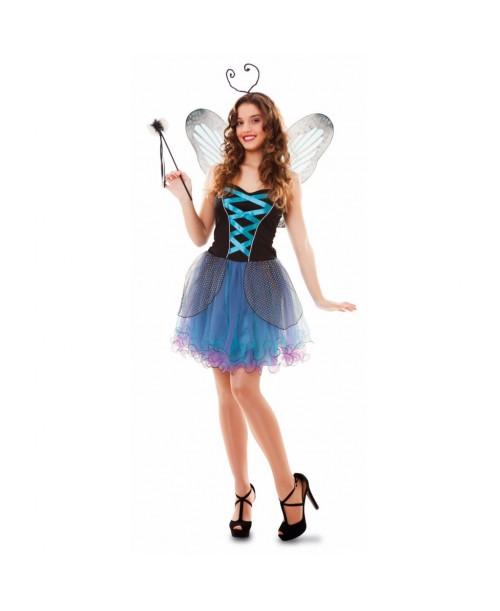 Disfraz de Hada Mariposa Azul Adulto