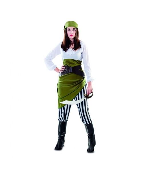 Disfraz de Pirata Chica Verde