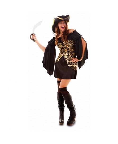 Disfraz de pirata dorada