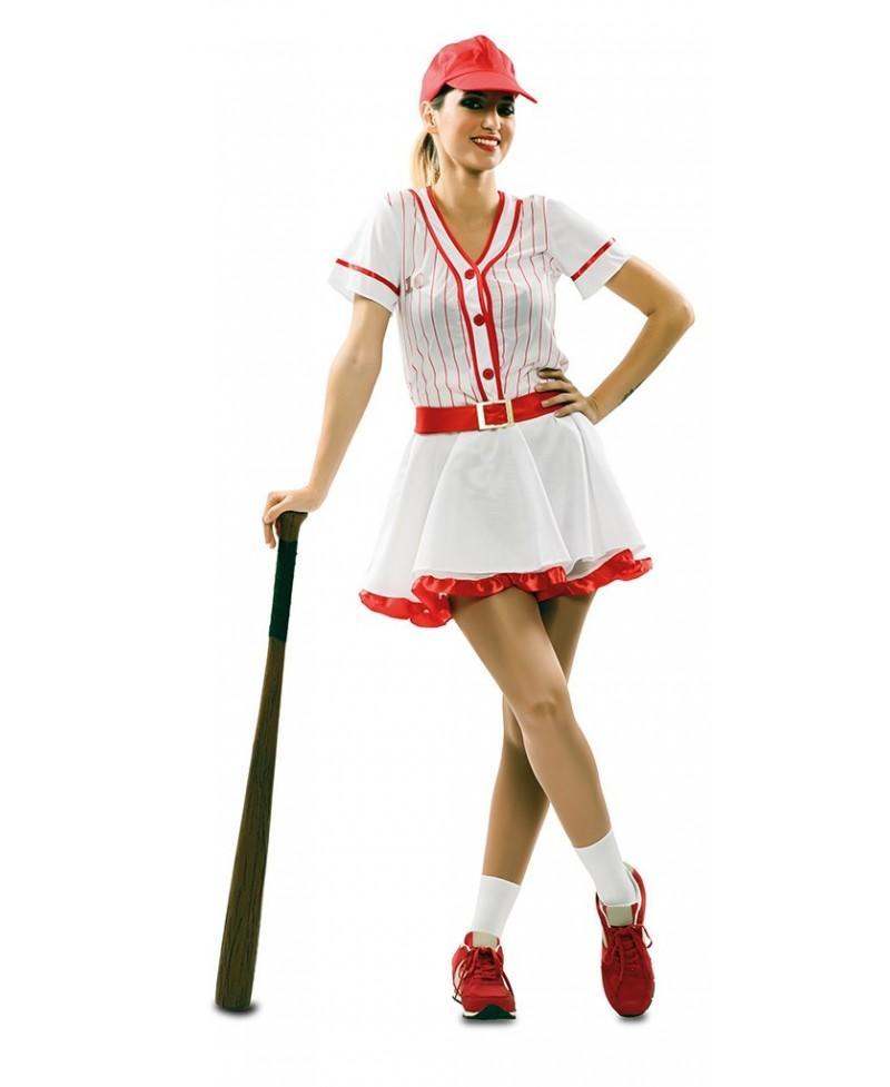 Disfraz de chica beisbol para adultos  80308badef2