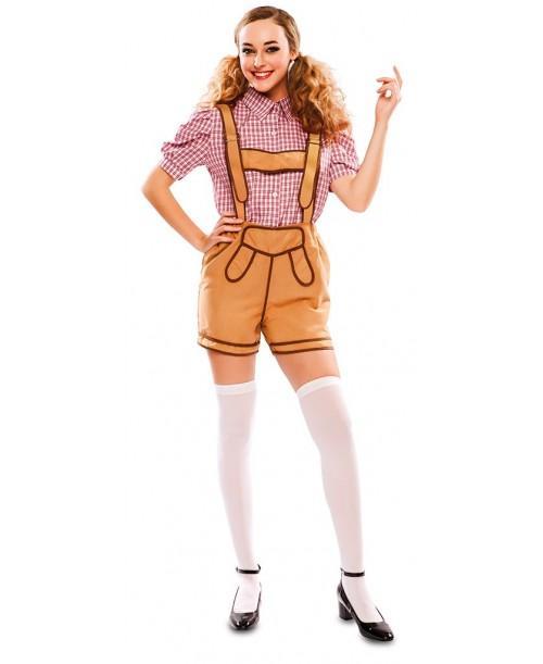 Disfraz de bávara con pantalón