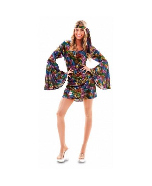 Disfraz de chica disco colores