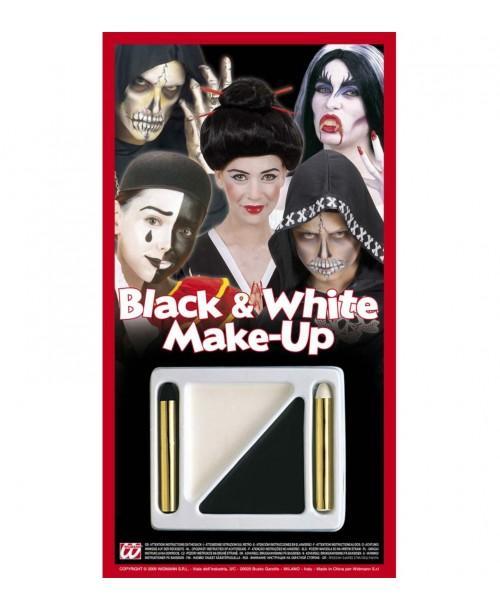 Set Maquillaje Blanco y Negro