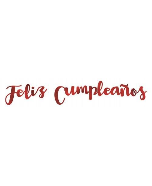 """Letras Metalizadas """"Feliz Cumpleaños"""""""
