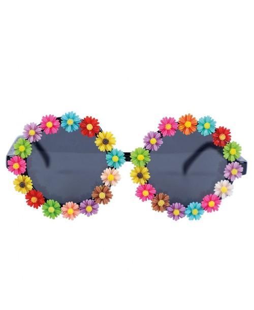 Gafas Redondas con Flores Multicolor