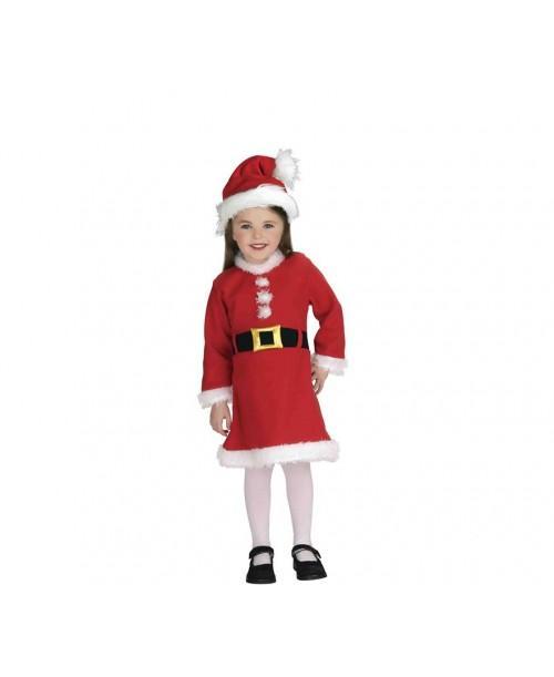 Disfraz de Mama Noel Infantl Luxe