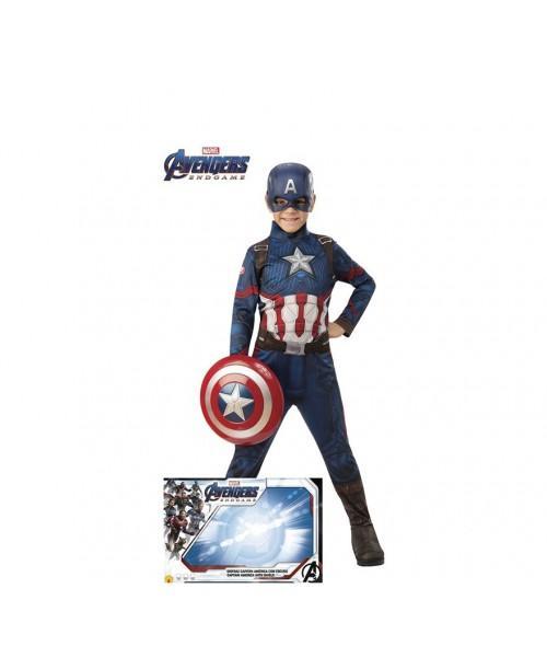 Disfraz Capitan America Endgame con Escudo