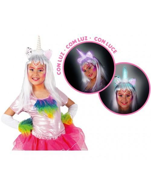 Diadema unicornio con Luz