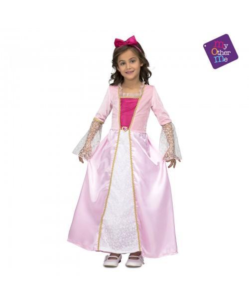 Disfraz de Princesa Rosa con Estrellitas
