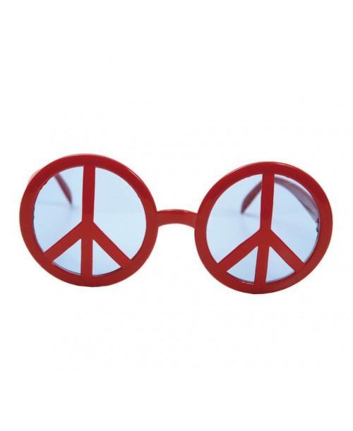 Gafas Símbolo de la Paz rojas