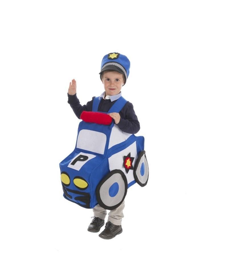 Disfraz de Coche Policia Infantil