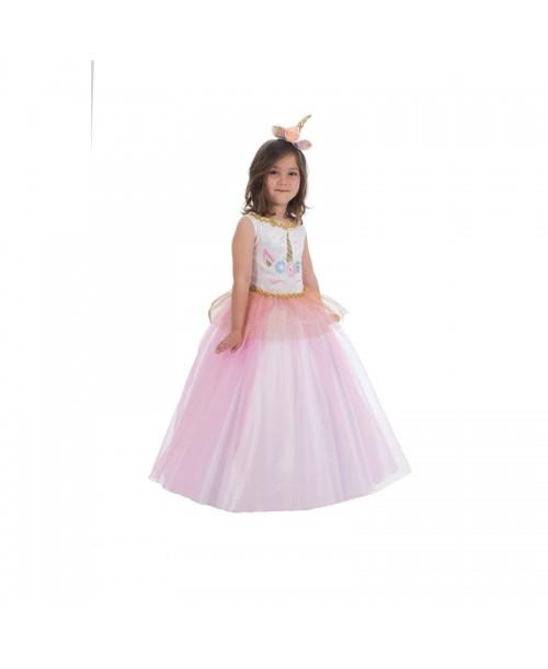 Disfraz de princesa Unicornio Infantil.