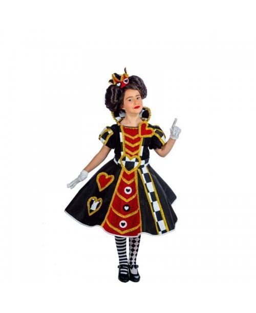 Disfraz de reina de Corazones Infantil.