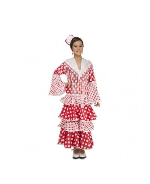 Disfraz de Flamenca Rocio infantil.