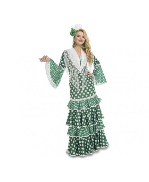 Disfraz de Flamenca Giralda Adulto.
