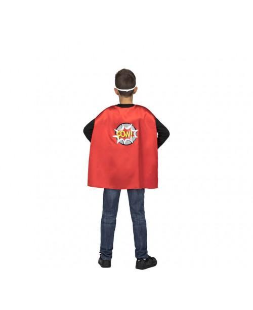 Capa Super Héroe Roja Infantil.